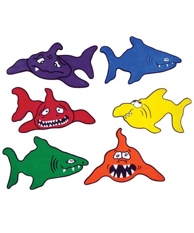 Poly-Pad-Sharks-Assorted-Color-Set-of-6-FREE-SHIPPING_pp20_R_246c2df1